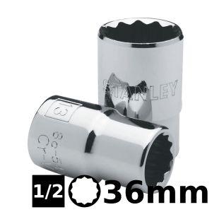 Bocallave Estriada Encastre 1/2 de 36mm Stanley
