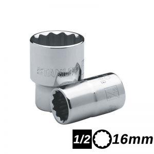 Bocallave Estriada Encastre 1/2 de 16mm Stanley