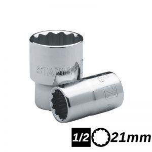 Bocallave Estriada Encastre 1/2 de 21mm Stanley
