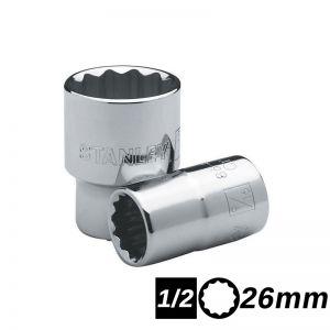 Bocallave Estriada Encastre 1/2 de 26mm Stanley