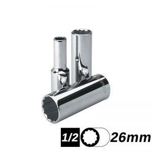 Bocallave Estriada Larga encastre 1/2 de 26 mm Stanley