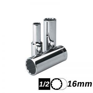 Bocallave Estriada Larga encastre 1/2 de 16mm Stanley