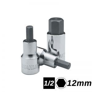 Bocallaves de punta hexagonal encastre 1/2 de 12mm corta Stanley