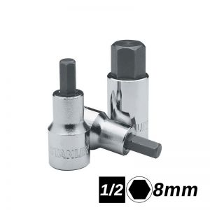 Bocallaves de punta hexagonal encastre 1/2 de 8mm corta Stanley