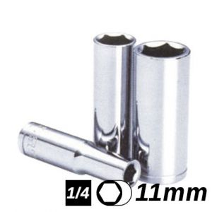 Bocallave Hexagonal Larga encastre 1/4 11mm Crossmaster