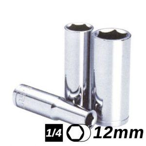 Bocallave Hexagonal Larga encastre 1/4 12mm Crossmaster