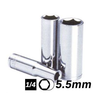 Bocallave Hexagonal Larga encastre 1/4 5.5mm Crossmaster