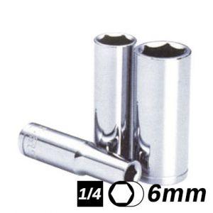 Bocallave Hexagonal Larga encastre 1/4 6mm Crossmaster