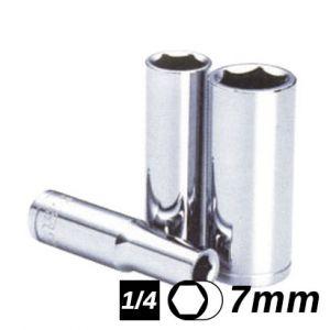 Bocallave Hexagonal Larga encastre 1/4 7mm Crossmaster