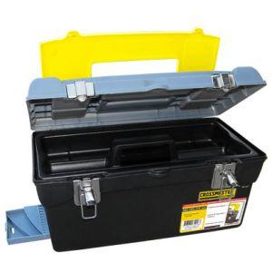 Caja Plástica para Herramientas con Cierres Metálicos (Tamaño 3) - Crossmaster