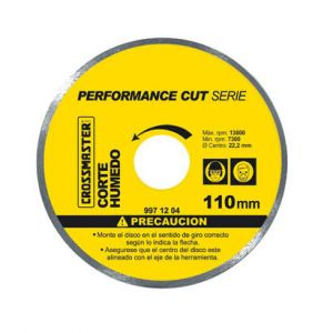 Disco Diamantado Profesional Continuo PerformanceCut 110mm - Crossmaster