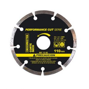 Disco Diamantado Profesional Segmentado PerformanceCut Corte Seco 110 mm Crossmaster