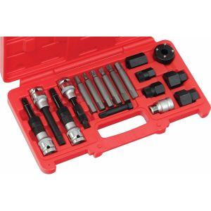 Kit Extractor de poleas de alternadores de 18 piezas Eurotech