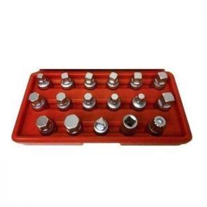 Kit de tubos para sacar tapones de Carter de 17 piezas - Eurotech