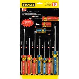 Juego de 10 destornilladores Stanley PRO