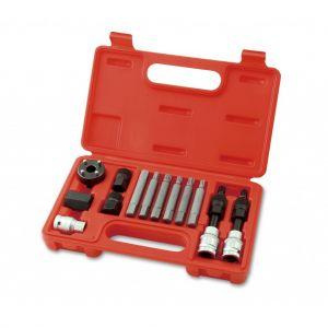 Kit extractor de poleas de altenador de 13 piezas - Eurotech
