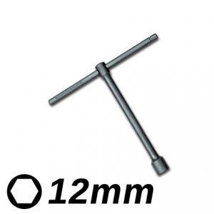 Llave T Corta 12mm Eurotech
