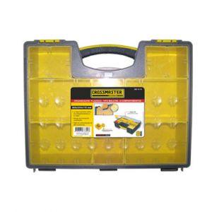 Organizador Plástico Tipo Maletín de 8 compartimentos - Crossmaster