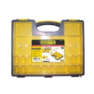 Organizador Plástico Tipo Maletín de 19 compartimentos - Crossmaster