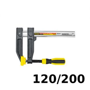 Prensa tipo F para carpintero 120x200mm Crossmaster