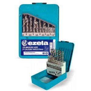 Set de 19 brocas para metal Ezeta