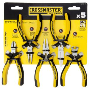 Set de mini pinzas y mini alicates - 5 piezas - Crossmaster
