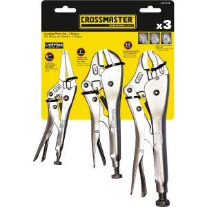 Set de Pinzas de presión de 3 piezas Crossmaster